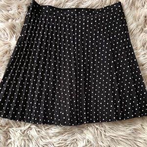 J Crew Polka-dotted Skirt - Black